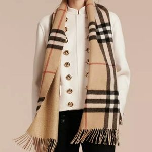 Accessories - Scottish Handmade cashmere scarf Camel